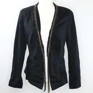 Rock & Republic Rhinestone Embellish Black Blazer